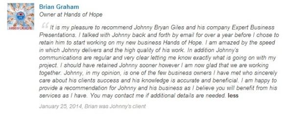 EBP.recommendation.BrianGraham